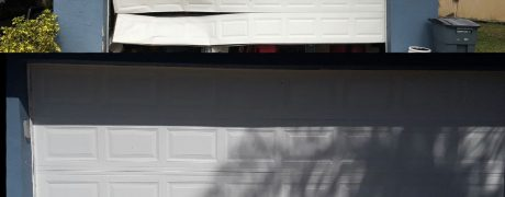 before & after garage door installation